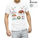 ショッピングクリスマスケーキ 送料無料 tシャツ メンズ 半袖 ホワイト グレー デザイン XS S M L XL 2XL Tシャツ ティーシャツ T shirt 015497 クリスマス ケーキ リース プレゼント