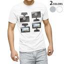 ショッピングドライブレコーダー tシャツ メンズ 半袖 ホワイト グレー デザイン XS S M L XL 2XL Tシャツ ティーシャツ T shirt 016169 ドライブレコーダー