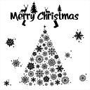 ウォールステッカー クリスマス Christmas 飾り 90×90cm Lsize シール式 装飾 オーナメント ツリー リース 2018 xmas Xmas 壁紙 はがせる 剥がせる カッティングシート wall sticker 雑貨 ガラス 窓 DIY サンタ プチリフォーム パーティー イベント 賃貸 サンタ
