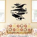 ウォールステッカー 飾り 60×60cm シール式 装飾 おしゃれ 壁紙 剥がせる DIY プチリフォーム パーティー 賃貸 016164 魚 モノクロ