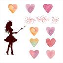 е╨еьеєе┐едеєб∙ е╖б╝еы╝░ежейб╝еые╣е╞е├елб╝ е╨еьеєе┐едеє ежейб╝еые╣е╞е├елб╝ ╛■дъ 30б▀30cm е╖б╝еы╝░ ┴ї╛■ Valentine е┴ече│ е╧б╝е╚ love ╩╔╗ц д╧дмд╗ды ╟эдмд╗ды еле├е╞егеєе░е╖б╝е╚ wall sticker ╗и▓▀ емеще╣ ┴ы DIY 015168 wss