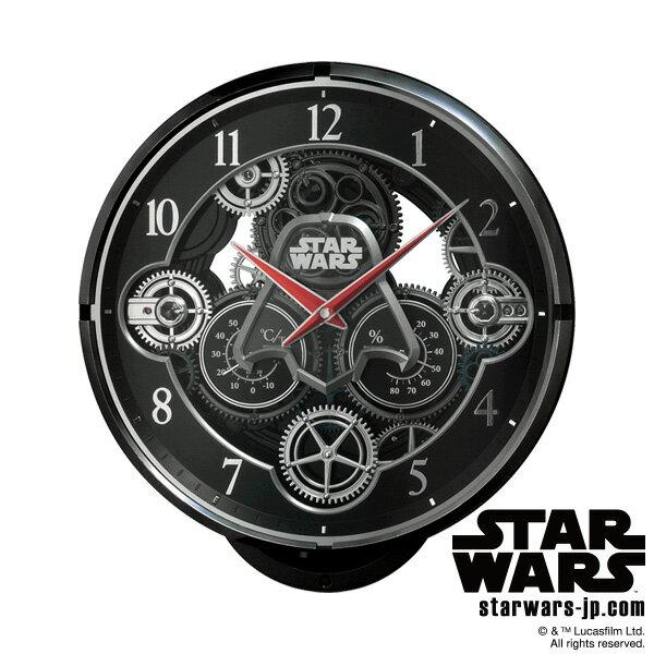 【電波 からくり 掛 時計 スター・ウォーズ ダースベイダー】 KARAKURI CLOCK 4MN533MC02 STAR WARS スター・ウォーズ ダースベイダー Darth Vader 電波時計 からくり 【お取り寄せ】 【20%OFF】【Disneyzone】 【令和 母の日 感謝 祝】【新生活 応援】
