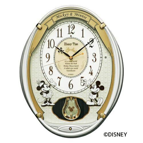 【送料無料】 FW567W 【ディズニー からくり時計 電波時計 掛け時計 メロディ】 セイコー[SEIKO] ディズニータイム ミッキーマウス&ミニーマウス 【名入れ】 【Disneyzone】 【お取り寄せ】 【家電とギフト】
