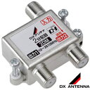 DXアンテナ【F5接栓付き】2分配器10〜2610MHz帯接栓式屋内用 1端子通電 2DM★【2DE1後継】