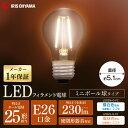 【2個セット】LEDフィラメント電球 E26 25形相当 ミニボール球タイプ LDG2N-G-FC LDG2L-G-FC 昼白色相当 電球色相当 電球 照明 LED ラ..