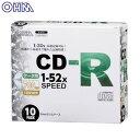 ��CD-R �ǡ����ѡ�CD-R52X�ǡ�����10P����ॱ��������¸ �ǡ�����¸ �ۥ������ŵ� PC-M52XCRD10L��TC�ۡ�OHM��
