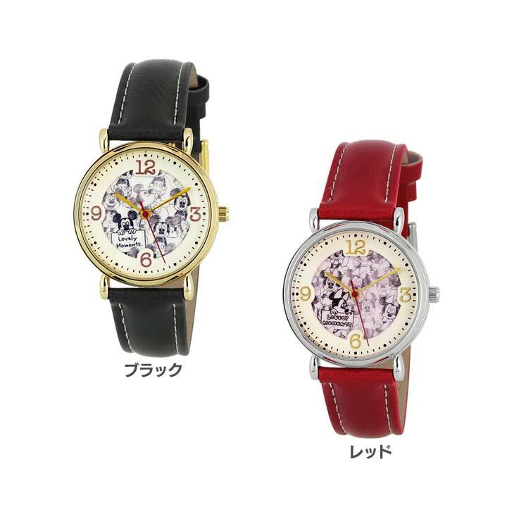 【B】ディズニー パターンダイヤルウォッチ WD-B02-MK腕時計 時計 とけい アナログ 腕時計とけい 腕時計アナログ 時計とけい とけい腕時計 アナログ腕時計 とけい時計 サン・フレイム ブラック・レッド【D】【メール便】