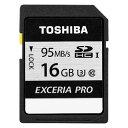 (メール便可:3点まで)東芝 SDカード EXCERIA PRO SDHCメモリカード 16GB【SD-KU016G】【ラッピング不可】(快適家電デジタルライフ)