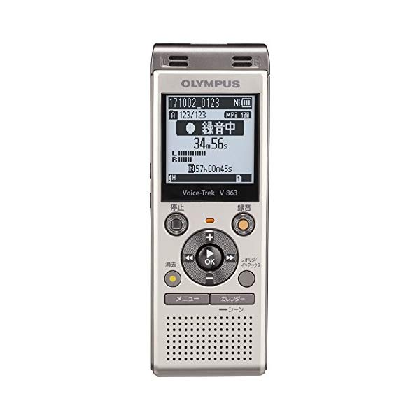 【テレフォンピックアップセット】 オリンパス ICレコーダー Voice Trek V-863 ピアノブラック 【快適家電デジタルライフ】