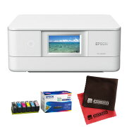 (インク・クロス付)エプソン カラリオプリンター EP-881AW ホワイト A4カラー複合機 (Colorio)(EPSON) (快適家電デジタルライフ)