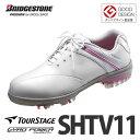 ブリヂストン ゴルフシューズツアーステージ SHTV11 WH(白)【レディス】【サイズ選択式】【送料無料】【メール便不可】