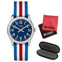 【1本用時計ケース・マイクロファイバークロス2枚セット】【正規輸入品】[タイメックス]TIMEX タイムティーチャー 腕時計 31mm(キッズ・レディスサイズ) TW7C09900 Blue【快適家電デジタルライフ】