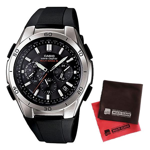 【マイクロファイバークロスセット】【国内正規品】[カシオ]CASIO 腕時計 WAVE CEPTOR ウェーブセプター タフソーラー 電波時計 MULTIBAND 6 WVQ-M410-1AJF メンズ