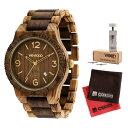 【セット】【正規輸入品】(ウィーウッド)WEWOOD 腕時計 9818183 ALPHA ZEBRANO CHOCO ROUGH メンズ 木製&バンド調整キット・クロス2枚(木製バンド クオーツ アナログ)(快適家電デジタルライフ)