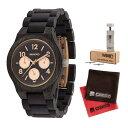 【セット】【正規輸入品】(ウィーウッド)WEWOOD 腕時計 9818176 KYRA BLACK ROSE メンズ 木製&バンド調整キット・クロス2枚(木製バンド クオーツ 多針アナログ)(快適家電デジタルライフ)