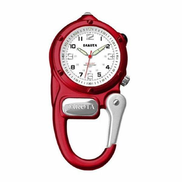(正規品)DAKOTA(ダコタ) 3879-2 時計 クリップウォッチ ミニクリップ レッド アウトドア(快適家電デジタルライフ)