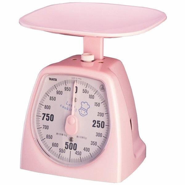 【クッキングスケール】TANITA タニタアナログクッキングスケール 1437タニハンド(1kg:Nピンク)【快適家電デジタルライフ】