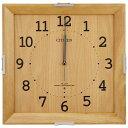 リズム時計 【電波掛時計】 8MYA15-007 木枠インテリア電波時計【モダン シンプルモードカレン】【メール便不可】