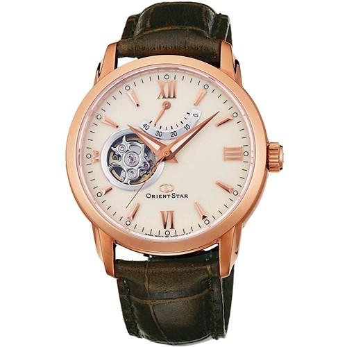 【国内正規品】 ORIENT(オリエント) 【腕時計】 WZ0211DA Orient Star[オリエントスター] 【セミスケルトン 機械式 自動巻き (手巻き付き) 文字盤:アイボリー ベルト:ブラウン 多針アナログ表示 革バンド】