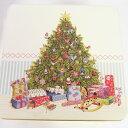 スクエアビッククッキー缶 [IHR]ラブリークリスマスツリー小物入れ・ジュエリー・キッチン