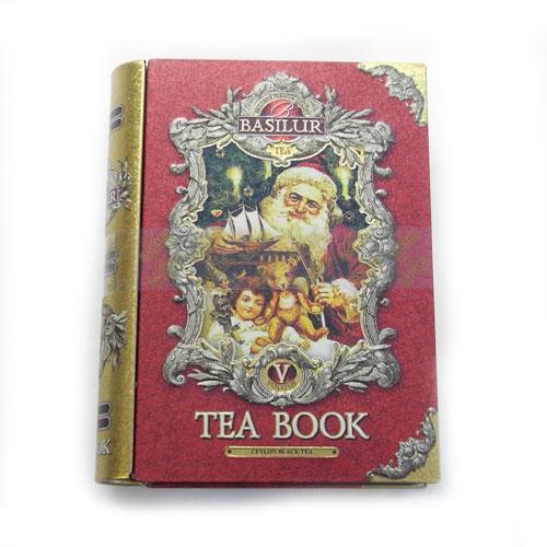 BOOK型缶入り紅茶L TEA BOOK vol5レッド 大[BASILUR]バシラー本シリーズ 本型ティンボックス
