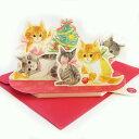 クリスマスライト&メロディカード ネコが歌う ジングルベル[Sanrio]サンリオ・メッセージカード・立体カード