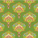 ペーパーナプキン[メール便OK] グリーンパターン柄 クリスマス[Paw]5枚入りパウ ランチサイズ