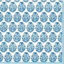 ペーパーナプキン 実パターン柄 ブルー [メール便OK] ランチサイズ[Caspari]カスパリ