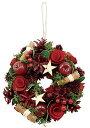 クリスマス リースS グレイスリース スターレッド 冬リース