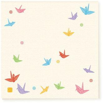 日本食品衛生法標準紙餐巾郵件飛行好起重機 10 / pkg [FRONTIA] 前沿日本花紋喜慶紙餐巾