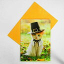 701594 ハロウィーンカードL 帽子の子猫[AVANTI]ネコ・猫・ねこメッセージ・ギフトカード・グリーティング