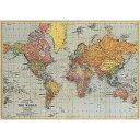 包装紙 ラッピングペーパー ワールドマップ1世界地図[Cavallini ]輸入包装紙スクラップブッキング・ポスター・カルトナージュ・デコパージュ・ペーパークラフト