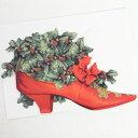 Punch Studio クリスマス スモールカード 赤い靴...