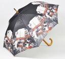 ジャンプ傘 CATミュージック[あまの]かさ・傘・雨傘・猫傘・猫柄・Cat