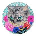 ポケットミラー 猫の肖像 猫 ねこ ネコ金田花季・缶ミラー・ネコ・キャット・cat・コンパクトミラー