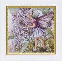 ウォールデコ ミニゲル アート フレーム ライラックフェアリー[Flower Fairies]フラワーフェアリー妖精・アート 壁掛け・花柄