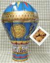 ショッピング貯金箱 缶入菓子 ヴィクトリアンホットエアーバルーン ブルー缶(チョコチップクッキー150g)チャーチル貯金箱 気球 熱気球缶