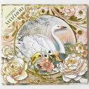 [Punch Studio]ポケットミラー スワン 730-878-67パンチスタジオ鏡・ミラー・ローズ・鳥・とり・バード