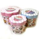[Punch Studio]花型BOXセット ピンクのカップケーキ 大中小3点セット