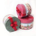 Punch Studio パンチスタジオ ラウンドボゥボックス クリスマスタウンお菓子の家エッフェル塔 タワー帽子ケース ギフトBOX
