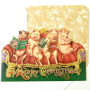 ★定形外★クリスマス&ニューイヤーカード ブタとソファ 【Punch Studio】パンチスタジオ 2010クリスマスシーズンカードブタ・ピッグ