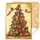 [Punch Studio]クリスマスカード リボンクリスマスツリーパンチスタジオ 2010クリスマスシーズンカード