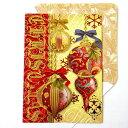 [Punch Studio]クリスマスカード Burgundy Ornamentパンチスタジオ クリスマス