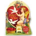 楽天KADERIA[Punch Studio]20%OFF SALE ダイカットメモ 愛を語るエンジェルパンチスタジオバレンタイン・ローズ・バラ・天使・エンジェル・ハト・小鳥・トリ・バード