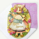 [Punch Studio] punch studio Easter collection message gift card rabbit rabbit with the multipurpose greeting card baby &amp; mom rabbit envelope