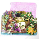 [Punch Studio] punch studio Easter collection message gift card rabbit rabbit bunny with the multipurpose greeting card boating rabbit small size envelope