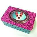 ストレージ缶ケース バロックテリア ストレージティン[犬グッズ 犬雑貨] [Catseye]犬・イヌ・ドッグ・DOG