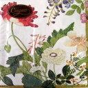ペーパーナプキン[メール便OK] ランチサイズ10枚入りProfusion Of Flowers アイボリー[Caspari]花柄・紙ナプキン