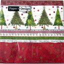 ペーパーナプキン[メール便OK]ランチサイズ クリスマスツリーChristmas Trees 10枚入り[Paper+Design]ペーパーデザインクリスマス・