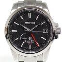 SEIKO セイコー メンズ腕時計 グランドセイコーGMT スプリングドライブ SBGE013 ブラック(黒)文字盤【中古】